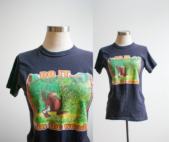 Vintage 1970s Iron On Tshirt / Vintage Do It In Th