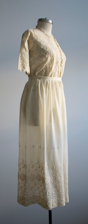 Antique 2pc Outfit / Edwardian Lawn Outfit / Embr… - image 3