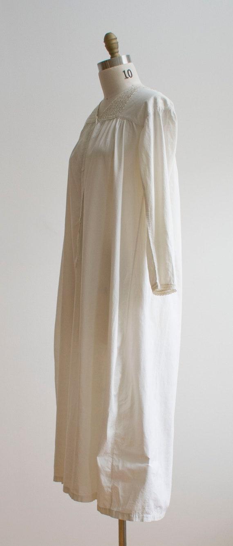Vintage Edwardian Nightgown / White Cotton Nightg… - image 9