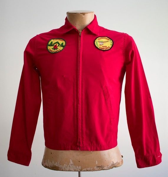 1950s Boy Scouts of America Jacket / Red Boy Scou… - image 2