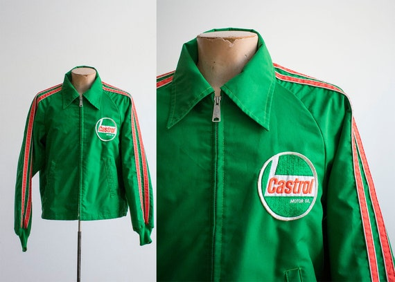 Vintage 1970s Racing Jacket / Vintage 70s Car Raci