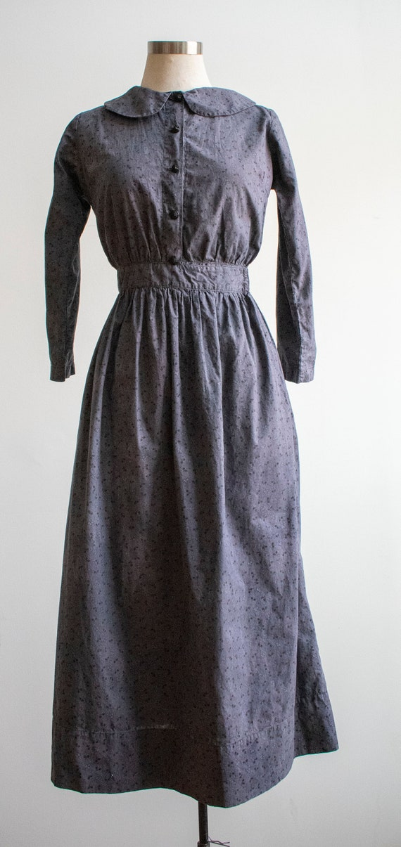 Vintage 1930s 1940s Farm Dress / Cotton Farm Dres… - image 3