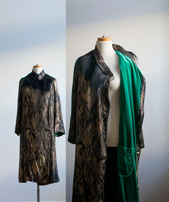 1920s Flapper Coat / 1920s Art Deco Era Jacket / G