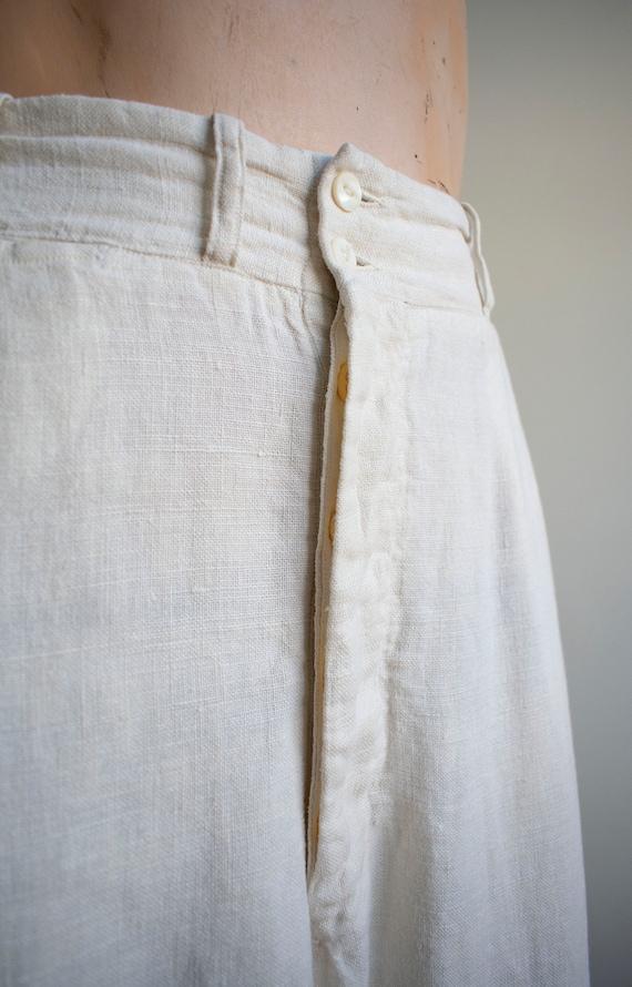 Antique White Linen Knickers / True Vintage Britc… - image 3