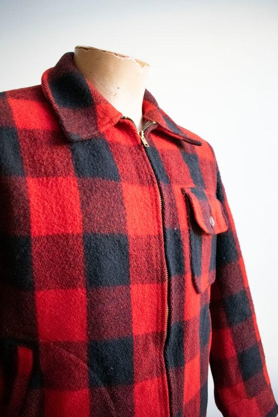 Vintage 1940s Woolrich Jacket / Vintage Wool Buff… - image 3