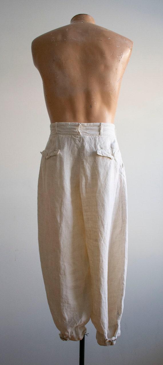 Antique White Linen Knickers / True Vintage Britc… - image 6