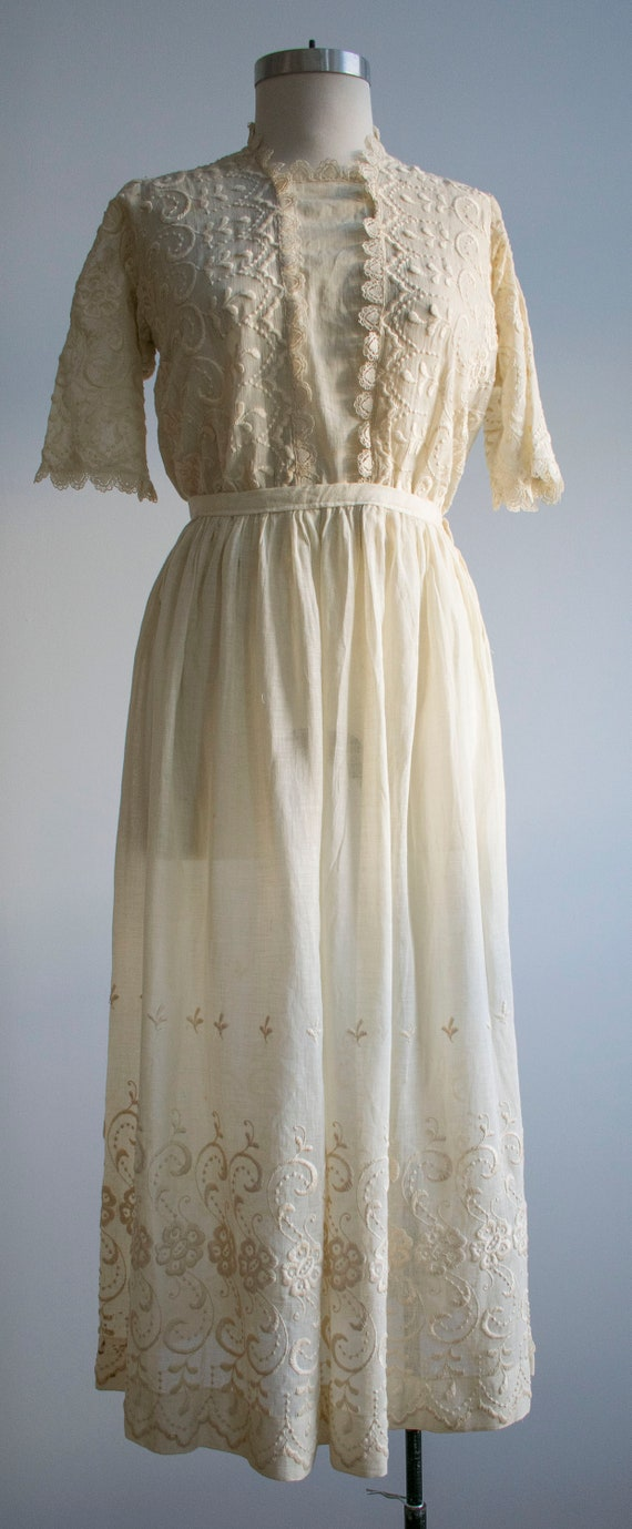 Antique 2pc Outfit / Edwardian Lawn Outfit / Embr… - image 2
