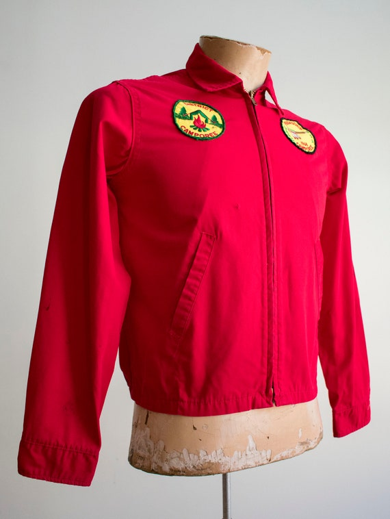 1950s Boy Scouts of America Jacket / Red Boy Scou… - image 4