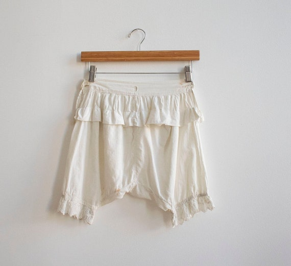 Antique White Cotton Bloomers / Edwardian Bloomers