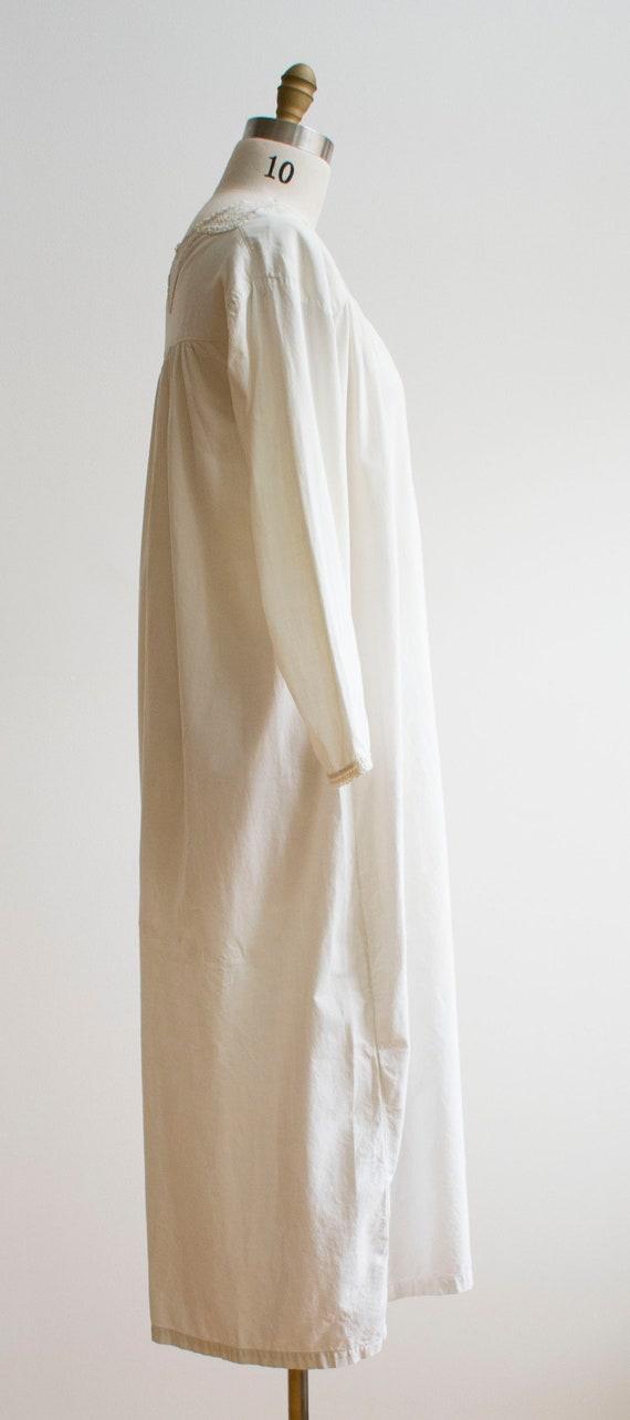 Vintage Edwardian Nightgown / White Cotton Nightg… - image 5