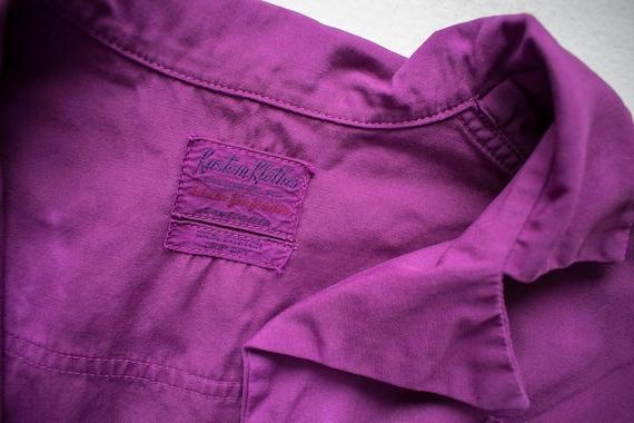 1960s Uniform Dress / Hand Dyed Purple Dress / Pu… - image 10