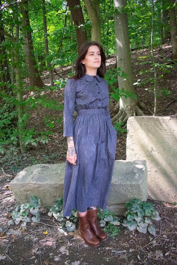Vintage 1930s 1940s Farm Dress / Cotton Farm Dress