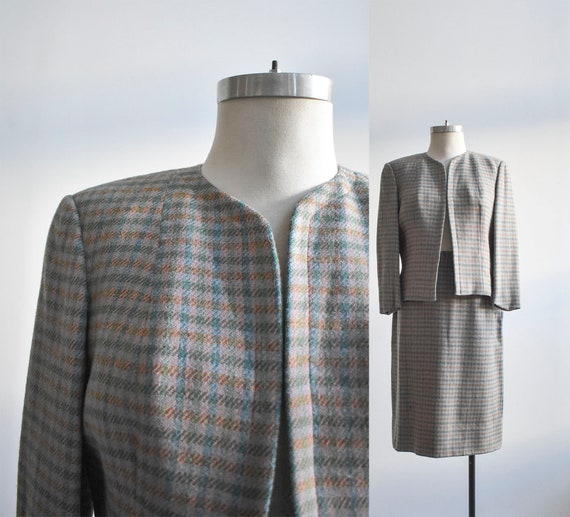 Vintage 2pc Tweed Suit Set