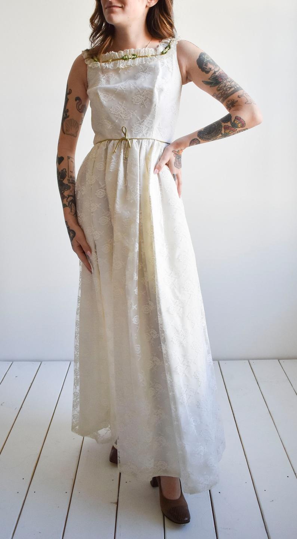 White 1960s Lace Dress