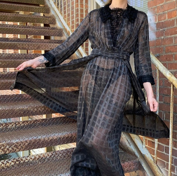 Black Edwardian Gown - image 8