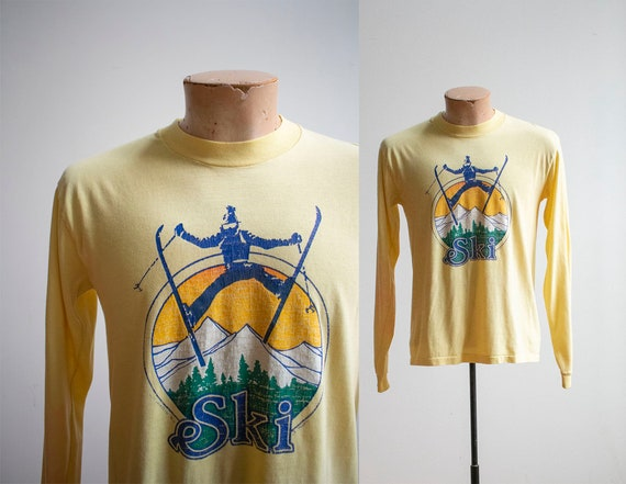 Vintage 1970s Tshirt / Longsleeve Vintage Tee / Vi