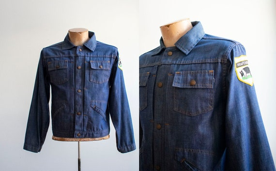 Vintage Montgomery Wards Denim Jacket / 1970s Deni