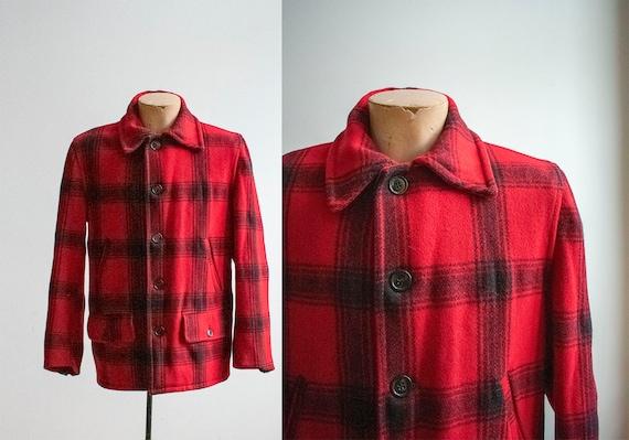 Vintage 1940s Woolrich Style / Vintage Wool Buffal