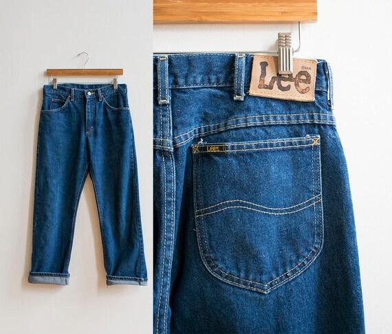 Vintage Lee Jeans / Dark Denim Lee Jeans / Vintage