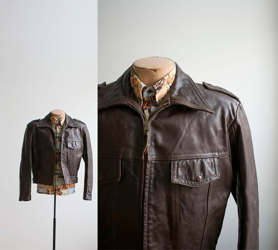 1970s Harley Leather Jacket / Vintage Harley David
