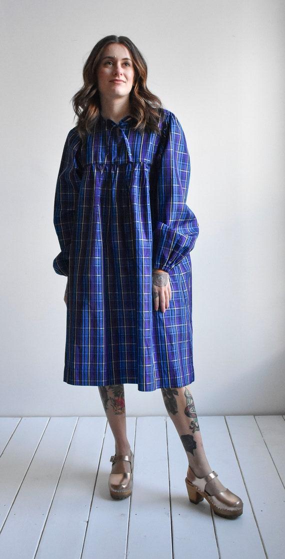 Vintage Plaid Smock Dress - image 8