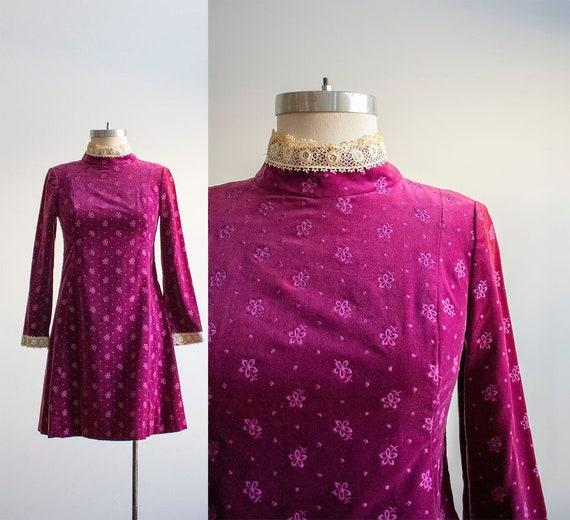 Vintage 1960s Cocktail Dress / Vintage Mod Dress /