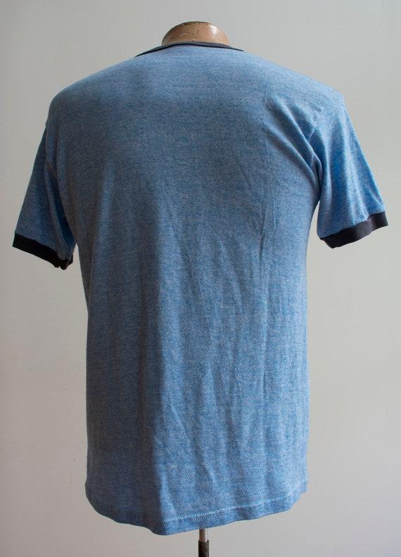 Vintage Ringer Tee / 1980s Ringer Tshirt / Blue L… - image 7