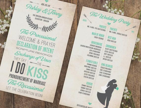 wedding programs custom wedding program design wedding etsy