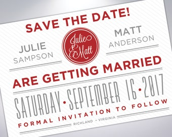 Save The Date Postcards   Custom Wedding Announcements     Engaged   Save The Date Card   Postcard Design   Custom Save The Date