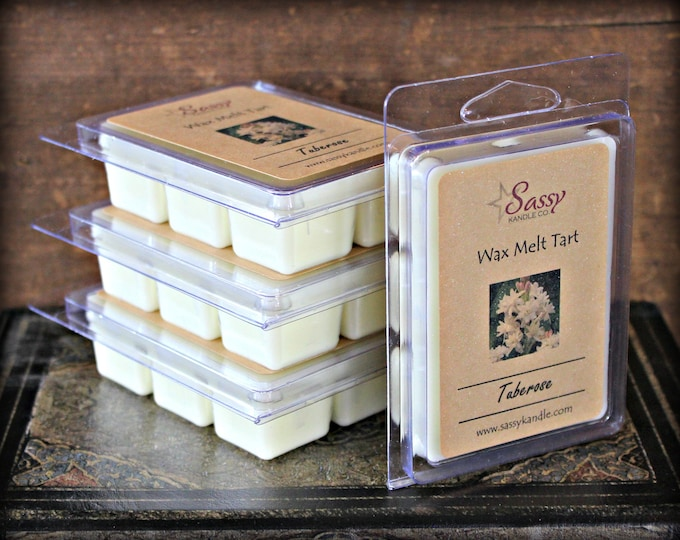 TUBEROSE | Wax Melt Tart | Wax Tart | Wax Melt | Pthalate Free | Soy Blend | Sassy Kandle Co.
