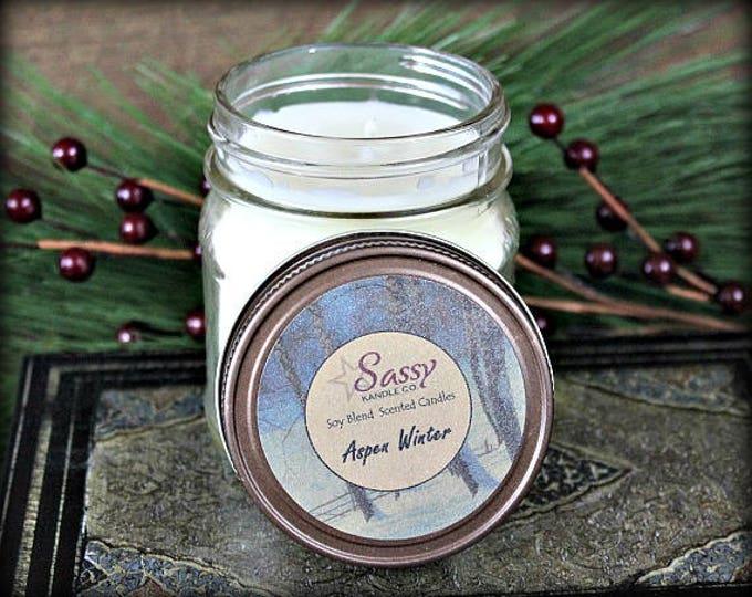 ASPEN WINTER | Mason Jar Candle | Soy Blend | Phthalate Free | Sassy Kandle Co.