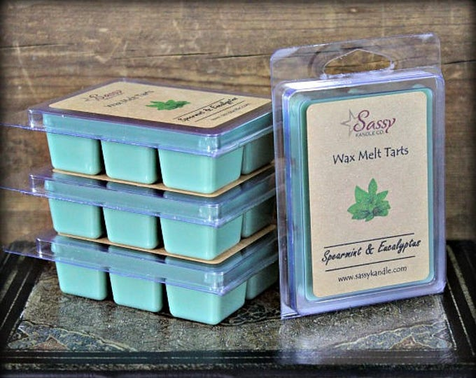 SPEARMINT & EUCALYPTUS | Wax Melt Tart | Wax Tart | Wax Melt | Phthalate Free | Soy Blend | Sassy Kandle Co.