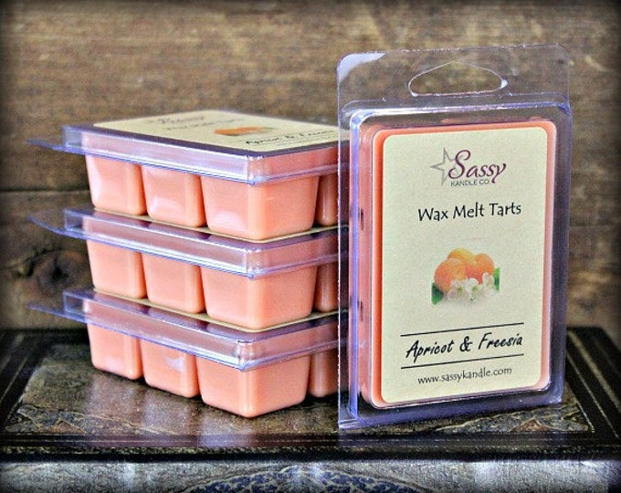 APRICOT & FREESIA | Wax Melt Tart | Wax Tart | Wax Melt | Phthalate Free | Soy Blend | Sassy Kandle Co.
