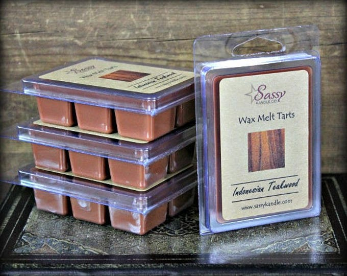 INDONESIAN TEAKWOOD | Wax Melt Tart | Wax Tart | Wax Melt | Phthalate Free | Soy Blend | Sassy Kandle Co.