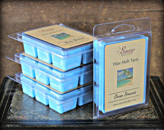 OCEAN BREEZES | Wax Melt Tart | Wax Tart | Wax Melt | Pthalate Free | Soy Blend | Sassy Kandle Co.