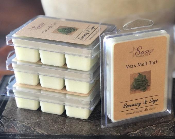 ROSEMARY & SAGE | Wax Melt Tart | Wax Tart | Wax Melt | Phthalate Free | Soy Blend | Sassy Kandle Co.