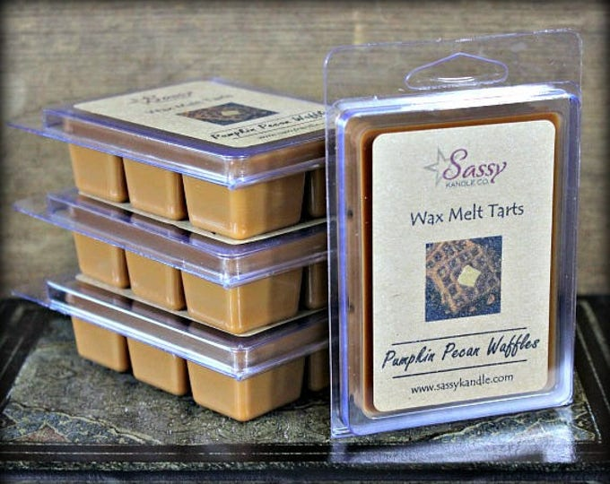 PUMPKIN PECAN WAFFLES | Wax Melt Tart | Sassy Kandle Co.