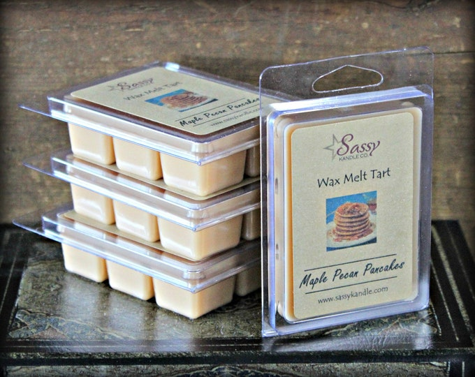MAPLE PECAN PANCAKES | Wax Melt Tart | Wax Tart | Wax Melt | Phthalate Free | Soy Blend | Sassy Kandle Co.