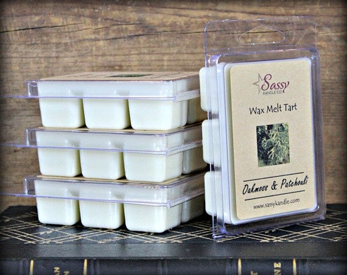OAKMOSS & PATCHOULI | Wax Melt Tart | Wax Tart | Wax Melt | Phthalate Free | Soy Blend | Sassy Kandle Co.