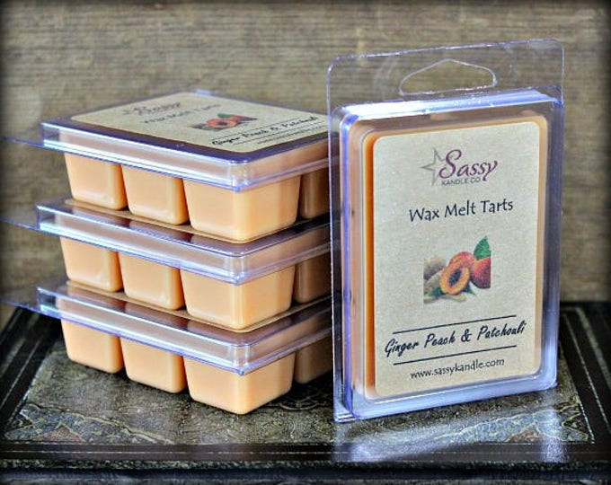 GINGER PEACH & PATCHOULI | Wax Melt Tart | Phthalate Free |  Sassy Kandle Co.