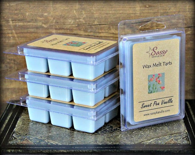 SWEET PEA VANILLA | Wax Melt Tart | Wax Tart | Wax Melt | Phthalate Free | Soy Blend | Sassy Kandle Co.