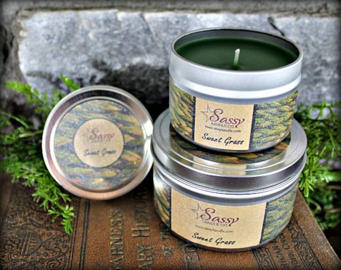 SWEETGRASS | Candle Tin (4 or 8 oz) | Phthalate Free | Sassy Kandle Co.