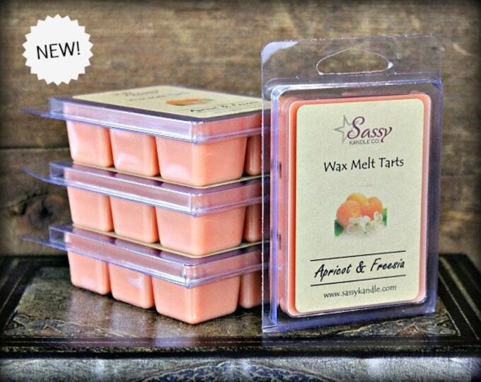 APRICOT FREESIA | Wax Melt Tart |  Phthalate Free | Sassy Kandle Co.