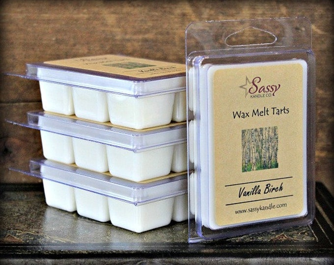 VANILLA BIRCH | Wax Melt Tart | Wax Tart | Wax Melt | Phthalate Free | Soy Blend | Sassy Kandle Co.