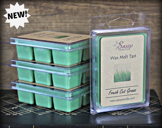 FRESH CUT GRASS | Wax Melt Tart | Sassy Kandle Co.