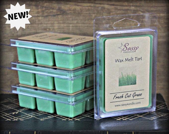 FRESH CUT GRASS | Wax Melt Tart | Wax Tart | Wax Melt | Phthalate Free | Soy Blend | Sassy Kandle Co.