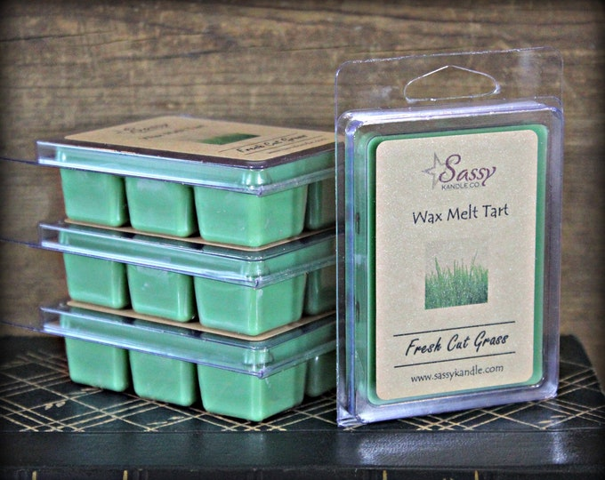 FRESH CUT GRASS | Wax Melt Tart | Wax Tart | Wax Melt | Phthalate Free | Soy Blend | Sassy Kandle Co.