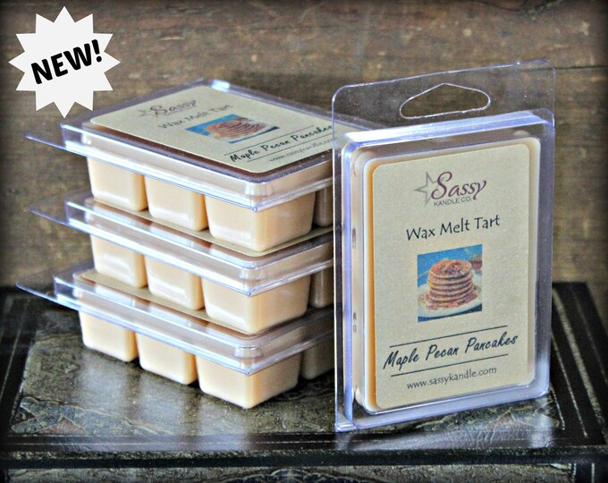 MAPLE PECAN PANCAKES | Wax Melt Tart | Wax Tart | Wax Melt | Phthalate Free | Soy Blend | Sassy Kandle Co.