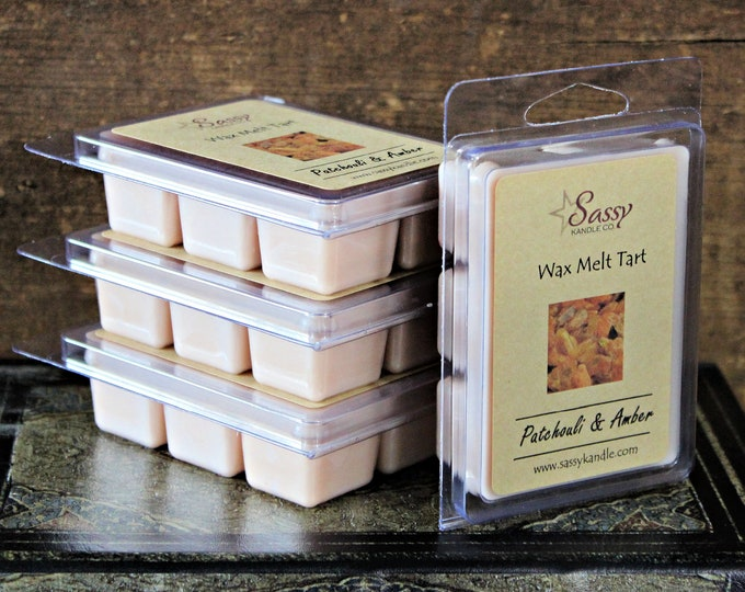 PATCHOULI & AMBER | Wax Melt Tart | Wax Tart | Wax Melt | Phthalate Free | Soy Blend | Sassy Kandle Co.