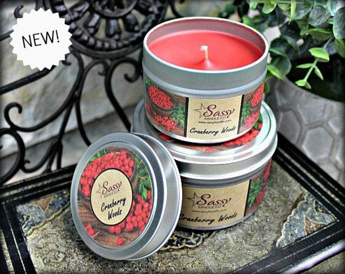 CRANBERRY WOODS | Candle Tin (4 or 8 oz) | Sassy Kandle Co.